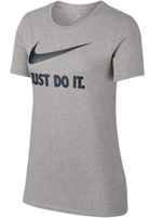 Camisa Nike Crew Just do It Cinza Feminina