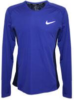Camisa Nike Dry Miller Running Manga Longa Roxa