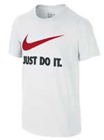 Camisa Nike Just do It Branca Infantil