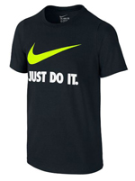 Camisa Nike Just do It Preta Infantil