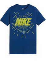 Camisa Nike NSW Tee Space Block Azul Infantil