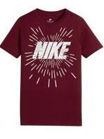 Camisa Nike NSW Tee Space Block Vinho Infantil