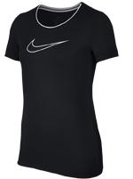Camiseta Nike Pro Infantil Preta Feminina