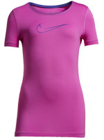 Camiseta Nike Pro Infantil Rosa Feminina