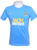 Camisa Manchester City Just Do It Nike Azul