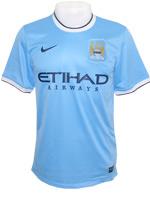 Camisa Jogo 1 Manchester City Nike 2014 Azul