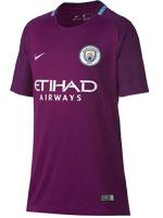Camisa Jogo 2 Manchester City Nike 17/18 Roxa