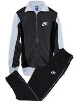 Conjunto Agasalho Nike Juvenil Preto e Cinza