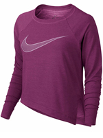 Camisa Feminina Nike Dry Trainning Top Roxa ML