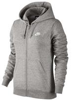 Jaqueta Feminina Nike NWS Hoodie Fleece Cinza
