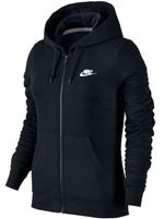Jaqueta Feminina Nike NWS Hoodie Fleece Preta