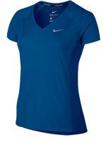Camisa Feminina Nike Dry Miller Running Azul