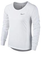 Camisa Feminina Nike Dry Miller Running Branca ML