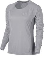 Camisa Feminina Nike Dry Miller Running Cinza ML