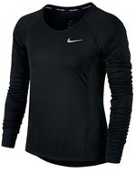 Camisa Feminina Nike Dry Miller Running Preta ML