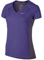 Camisa Feminina Nike Dry Miller Running Roxa