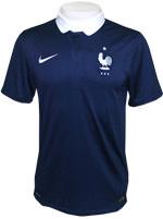 Camisa Jogo 1 Fran�a Nike 2014 Marinho