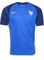 Camisa de Jogo França 2016 Azul S/N