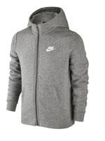 Jaqueta Infantil Nike NSW Hoodie FZ Cinza