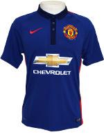 Camisa Jogo 3 Manchester United Nike 2015 Azul