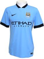 Camisa Jogo 1 Manchester City Nike 2015 Azul