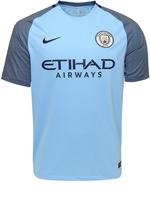 Camisa Jogo 1 Manchester City Nike 2016/17 Azul