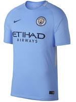Camisa Jogo 1 Manchester City Nike 2017/18 Azul