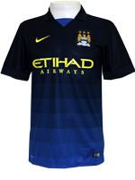 Camisa Jogo 2 Manchester City Nike 2015 Marinho