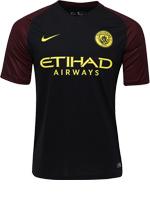 Camisa Jogo 2 Manchester City Nike 16/17 Preta