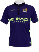Camisa Jogo 3 Manchester City Nike 2015 Roxo