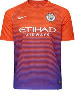 Camisa Jogo 3 Manchester City Nike 16/17 Laranja