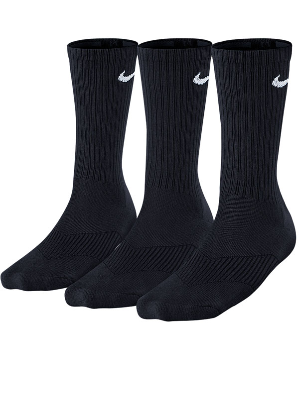 Kit 3 Pares de Meias Nike Cotton Infantil Preta