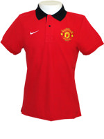 Camisa Polo Core Manchester United Nike Vermelha