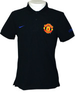 Camisa Polo Core Manchester United Nike Preta