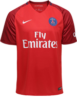 Camisa 2 Paris Saint-Germain Nike 16/17 Vermelha