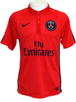 Camisa 3 Paris Saint-Germain Nike 2015 Vermelha