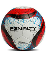 Bola de Futsal Storm Penalty Branca e Vermelha