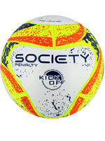 Bola de Futebol Society S11 Penalty Branca Amarela