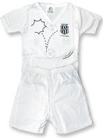 Pijama Curto Infantil Torcida Baby Ponte Preta