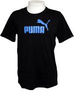 Camisa Puma Logo Tee Preto / Azul