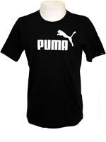 Camisa Puma Logo Tee Preto / Branco