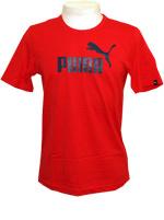 Camisa Puma Logo Tee Vermelho