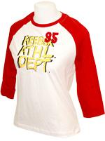 T-shirt Athletic Feminina Vermelha e Branca