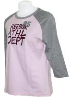 T-shirt Athletic Feminina Rosa e Cinza