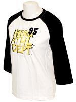 T-shirt Athletic Feminina Branca e Preta