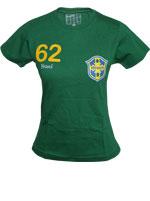 Camisa Stadio Brasil 1962 Baby Look Verde
