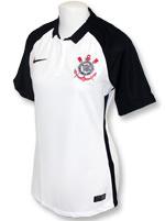 Camisa Feminina Corinthians Nike 2015 Branca