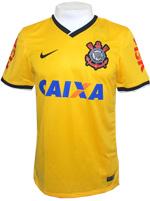 Camisa Jogo 3 Corinthians Nike 2014 Amarela
