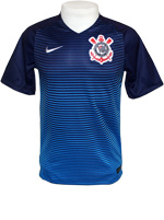 Camisa Jogo 3 Corinthians Nike 2016 Azul S/N