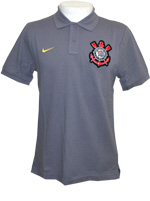 Camisa Polo Authentic Corinthians Nike Cinza